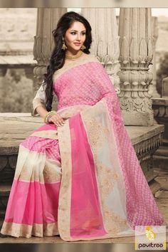 Spectacular light pink designer party wear saree will surely add shine in your character with beautiful off white embroidery designs and nice butti works.  Spectacular light pink designer party wear saree will surely add shine in your character with beautiful off white embroidery designs and nice butti works.http://www.pavitraa.in/store/designer-collection/light-pink-designer-party-wear-saree-4/?utm_source=pk&utm_medium=pinterestpost&utm_campaign=23Mar