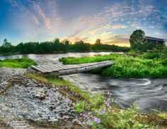 Sunset on the river Plyussa by AIFEATI sunset bridge nikon lanscape samyang rivers Sunset on the river Plyussa AIFEATI Photos Of The Week, Landscape Photography, Travel Photography, Tourism, Vacation, Mountains, Sunset, World, Rivers