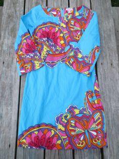 Lilly Pulitzer Women's Aqua Shauna Tunic Dress Size 0