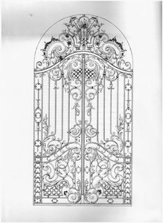 Fantastic Free of Charge Wrought Iron pattern Thoughts House adorning having wrought iron is as formidable nowadays as the wrought iron precious metal itself. Iron Front Door, Iron Doors, Metal Gates, Wrought Iron Gates, Gate Design, Door Design, Wrought Iron Wall Decor, Diy Broderie, Iron Art