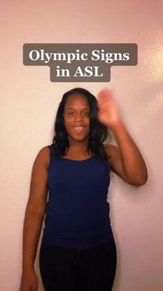 Olympic Games, Sign Language Basics, Asl Signs, Bilingual Education, American Sign Language, Summer Olympics, Educational Videos, Useful Life Hacks