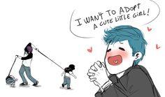 Armin siendo buen padre desde tiempos inmemoriables XD por eso lo amo❤❤