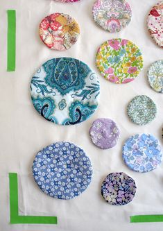 Mini Quilt of the Month- February: Liberty of London Tana Lawn CicularApplique - The Purl Bee - Knitting Crochet Sewing Embroidery Crafts Patterns and Ideas!