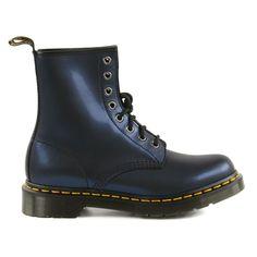 Metallic look dark blue Dr. Martens boots - Dr. Martens laarzen met blauwe metallic look