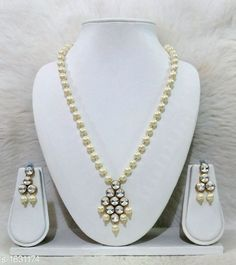 Jewellery Set Women's Alloy Gold Plated Jewellery Set Material: Alloy  Size: Free Size Description: It Has 1 Piece Of Necklace and 1 Pair Of Earring Work: Kundan & Beads Work Country of Origin: India Sizes Available: Free Size   Catalog Rating: ★4.3 (446)  Catalog Name: Free Gift Alluring Alloy & Kundan Beads Jewellery Sets Vol 3 CatalogID_212375 C77-SC1093 Code: 651-1631174-582