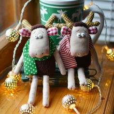 Textile elks. Текстильные лоси
