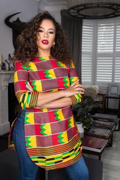 African Print Ummona Top Remilekun - African Styles for Ladies Short African Dresses, African Blouses, Latest African Fashion Dresses, African Print Dresses, Ankara Tops Blouses, Ankara Dress Styles, African Print Clothing, African Print Fashion, Africa Fashion