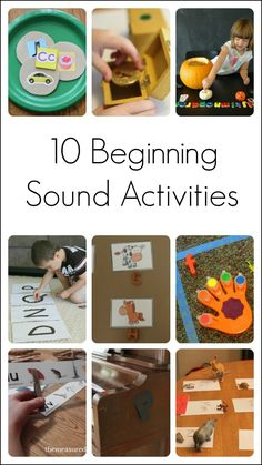 10 fun ideas for teaching kids about beginning sounds and beginning letters. These activities help children to learn an important early literacy concept. Spelling Activities, Preschool Literacy, Alphabet Activities, Early Literacy, Kindergarten Activities, Preschool Activities, Preschool Programs, Phonics Games, Preschool Letters