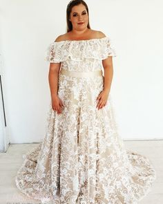 NEEEEEW design💖💖💖 Beatiful new design from Lasabina Plus Size Bridal! Exclusively designed for ! For more photos, keep… Denmark Girls, Plus Size Wedding, More Photos, News Design, Plus Size Dresses, September, Bride, Wedding Dresses, Model