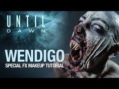Until Dawn wendigo halloween makeup tutorial - YouTube