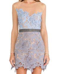 Light Blue Lace Sheath Dress: Keepsake High Roads Ivory Lace ...