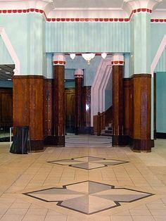 Art Deco Foyer on Dolier Street Dublin Art Deco Bar, Art Deco Home, Art Deco Design, Art And Architecture, Architecture Details, Art Deco Tiles, Streamline Moderne, Art Deco Buildings, Amazing Buildings