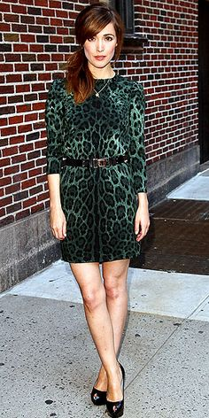 D leopard mini on Rose Byrne.