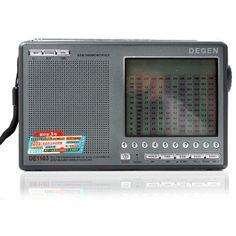 Degen DE1103 DSP FM SW MW LW SSB Digital World External Antenna Radio Receiver Multimedia, World Radio, Receptor, Mp4 Player, Sound & Vision, Goods And Service Tax, Digital Media, St Kitts And Nevis, Consumer Electronics