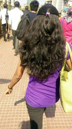 Open Hairstyles, Indian Hairstyles, Ponytail Hairstyles, Pretty Hairstyles, Long Silky Hair, Long Dark Hair, Thick Hair, Long Hair Ponytail, Braids For Long Hair