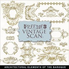 ❥ Freebies Vintage Architectural Elements of the Baroque