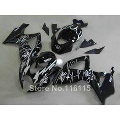 100% NEW fairing kit for SUZUKI Injection mold GSXR 600 750 K6 K7 2006 2007 glossy black Corona fairings set GSXR600 GSXR750 06 #Affiliate