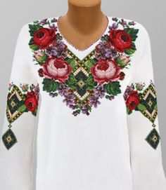 Ukrainian Beaded Blouse / dress / skirt / beaded by aCrossUkraine Mexican Fashion, Mexican Outfit, Folk Fashion, Covet Fashion, Fashion Models, Polish Embroidery, Folk Embroidery, Floral Embroidery, Beaded Embroidery