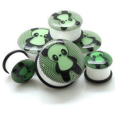Glow In The Dark Panda Plugs