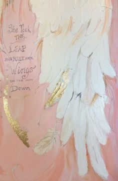 Graduation gift for her Angel Wings Art painting Spiritual painting The Leap acrylic painting Ange Angel Wings Drawing, Angel Wings Painting, Angel Wings Art, Angel Art, Diy Angels, The Artist, Angel Crafts, Angels Among Us, Painting Inspiration