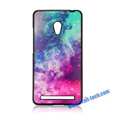 Cross Pattern Leather Coated Ultraslim Flexible Soft TPU Case for Asus ZenFone 6(Colorful Painting)