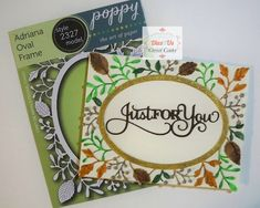 Sue Wilson Dies, Wink Of Stella, Oval Frame, Gift Vouchers, Fall Cards, Color Card, Clear Stamps, Some Pictures, Day Up