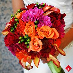 Tropical wedding bouquet from The Flower Pot..