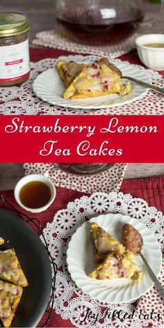 Beautiful little Strawberry Lemon Tea Cakes with a Cheesecake Swirl. Perfect for breakfast, an afternoon snack, or a tea party. Low Carb Grain Free THM S. via @joyfilledeats