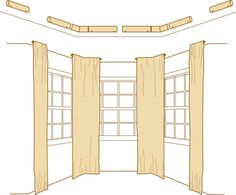 how to bay windows curtain rods drapery rods rings