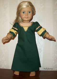 Merida dress for AG doll
