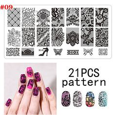 1PS Nail Art Seal Template Nail Lace Pattren by HighClassNailsss