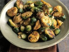Leichtes Rosenkohl-Maronen-Gemüse Rezept