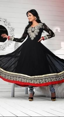 Bollywood Diva Sonal Chauhan in Georgette Anarkali Suit