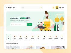 Logo Restaurant, Dessert Restaurant, Delivery App, Meal Delivery Service, Delivery Food, Redesign Logo, Food Web Design, Minimal Web Design, Website Services