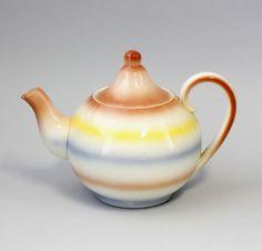 Keramik Teekanne Schramberg Majolika um 1930 25445319