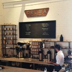 Eat: Crema--love the clean lines of this space