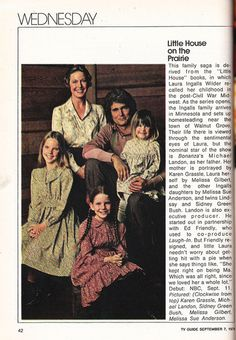 1974 TV Guide Fall Preview of Little House on the Prairie