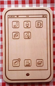 iPhone cutting board