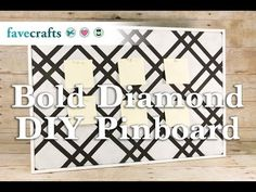 Bold Diamond DIY Pinboard - YouTube