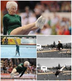 86-Year-Old Gymnast Lady! If you want to stay healthy and fit in your senior age and you're looking for inspiration, 86-year old Johanna Quaas is an awesome example!