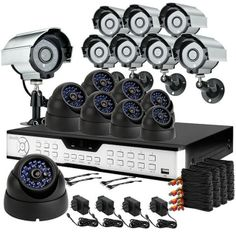 Zmodo 16-Channel BNC 16/BNC 1 Surveillance DVR Kit with 8pcs Bullet Cameras and 8pcs Dome Cameras #zmodo #security #topdollar #high #safe #surveillance