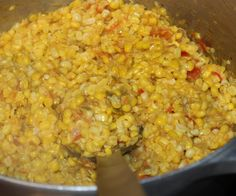 One of the Classic Cajun dishes. Fresh corn off the cob makes this dish superior although frozen or canned will still be a hit! If not using fresh corn, add 1/2 to 1 cup of heavy cream or evaporated milk. Also, one small can Rotel Brand Tomatoes can be used..