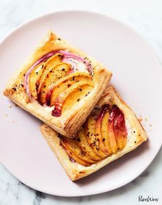 "Presenting seven end-of-summer dinners that say, ""It's not 'goodbye,' it's 'see you later.'"" (Grocery list included.) #cook #dinner #recipes Peach Puff Pastry, Frozen Puff Pastry, Puff Pastry Sheets, Fresh Peach Recipes, Honey Recipes, Appetizers For A Crowd, Appetizer Recipes, Party Recipes, Summer Recipes"