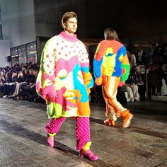 CSM BA FashionShow in London by Rachel Choi. May 2013. please, men, leave these oversized colourful Sweaters to be worn by us women! because I love these too much to share.