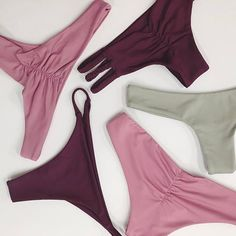 Bikinis on bikinis. The (all seamless) Maile, Kona, Brayden, Emmie, and Whale Tale of the 2017 Collectionshown in Sage, Rosé, and Reign ....