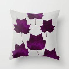 Throw Pillow featuring Mapleleaf Purple by Garima Dhawan