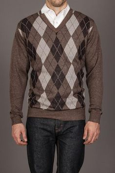 Line 48 Argyle V-Neck Sweater