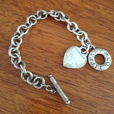 Silver toggle bracelet Tiffany and Co. silver bracelet 100% authentic could use a silver polish and cleaning. Matching necklace also listed. Will consider package deal. Tiffany & Co. Jewelry Bracelets