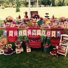 Mesa de dulces mexicana