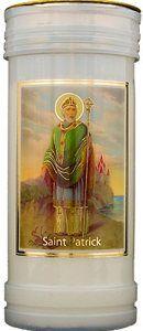 Saint Patrick Pillar Candle with Gold Foil Highlights & Prayer Foil Highlights, St Patrick's Day Gifts, Irish Blessing, Patron Saints, Inspirational Gifts, Gold Foil, St Patricks Day, Pillar Candles, Prayers